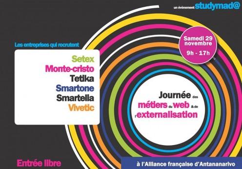Affiche journée des métiers du web et de l'externalisation