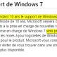 Cycle de vie de Windows 7